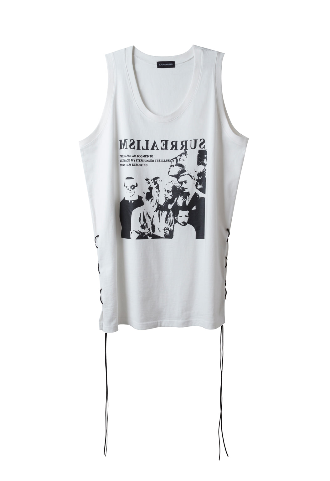 strap sleeveless shirts - white