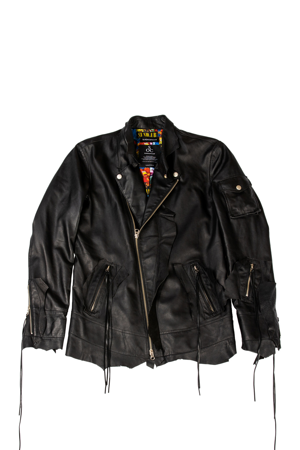 crude lane leather jacket