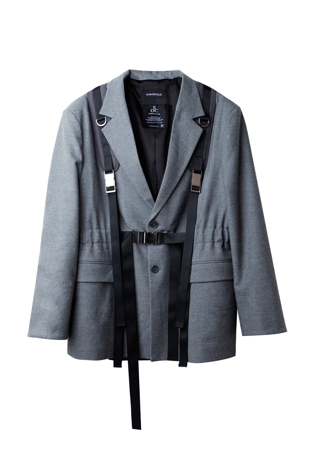 utility backpack belt blazer - gray