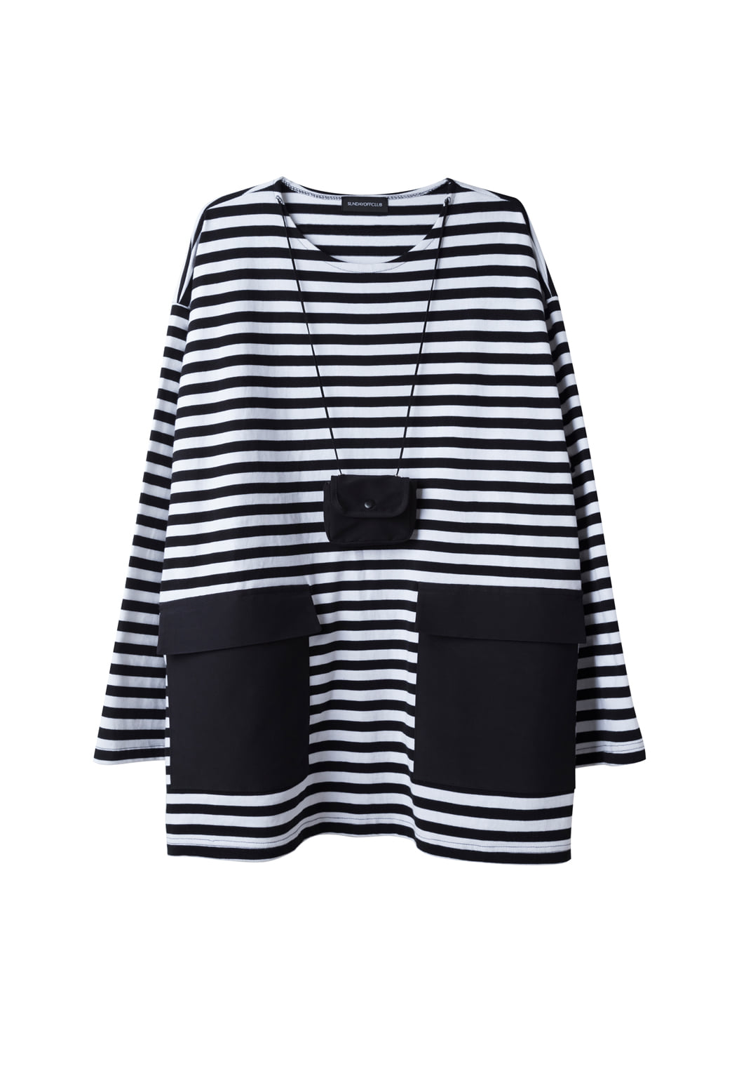 wallet stripe long sleeve t-shirts
