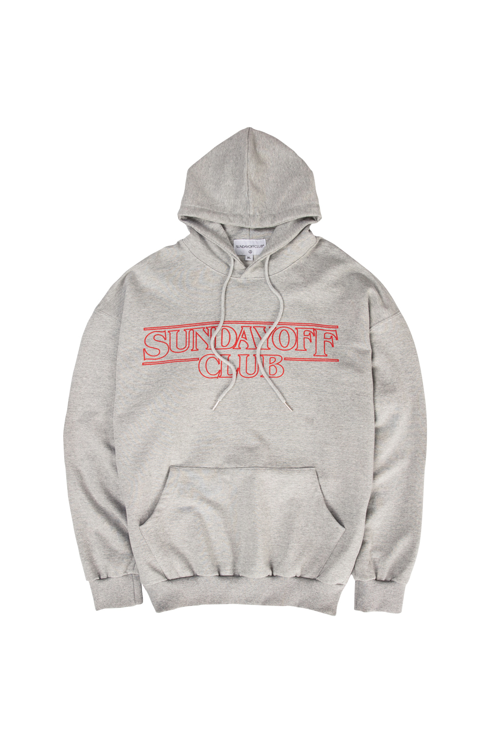 stranger things hoodie - gray