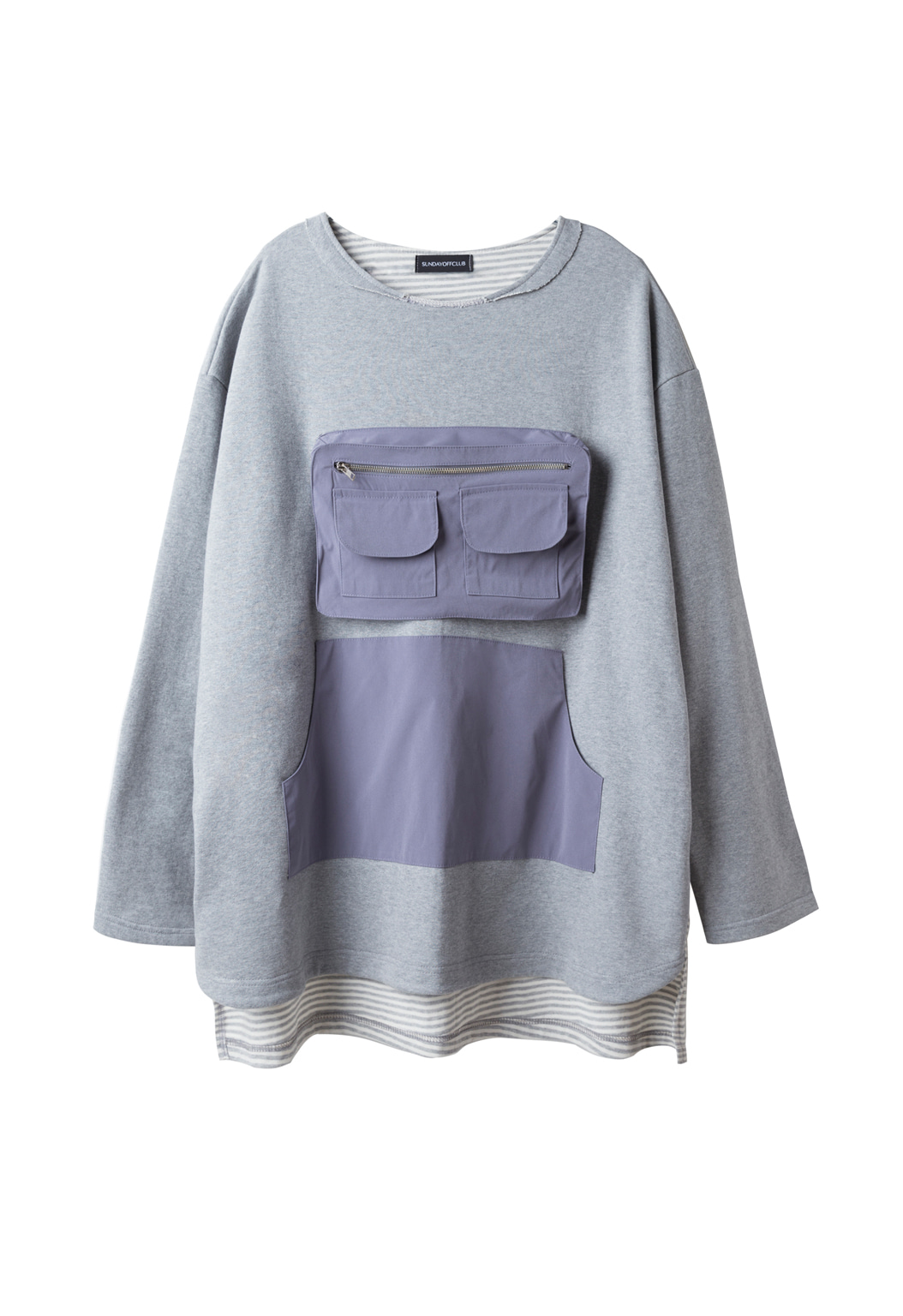 utility pocket sweatshirts - gray