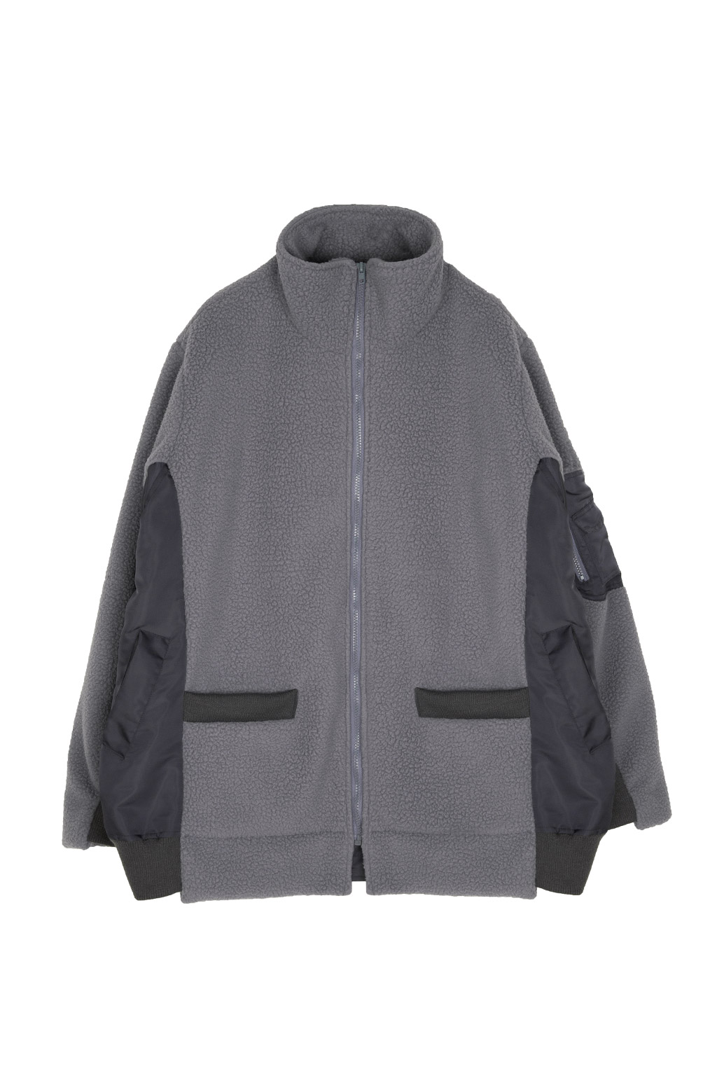 fleece docking ma-1 - charcoal