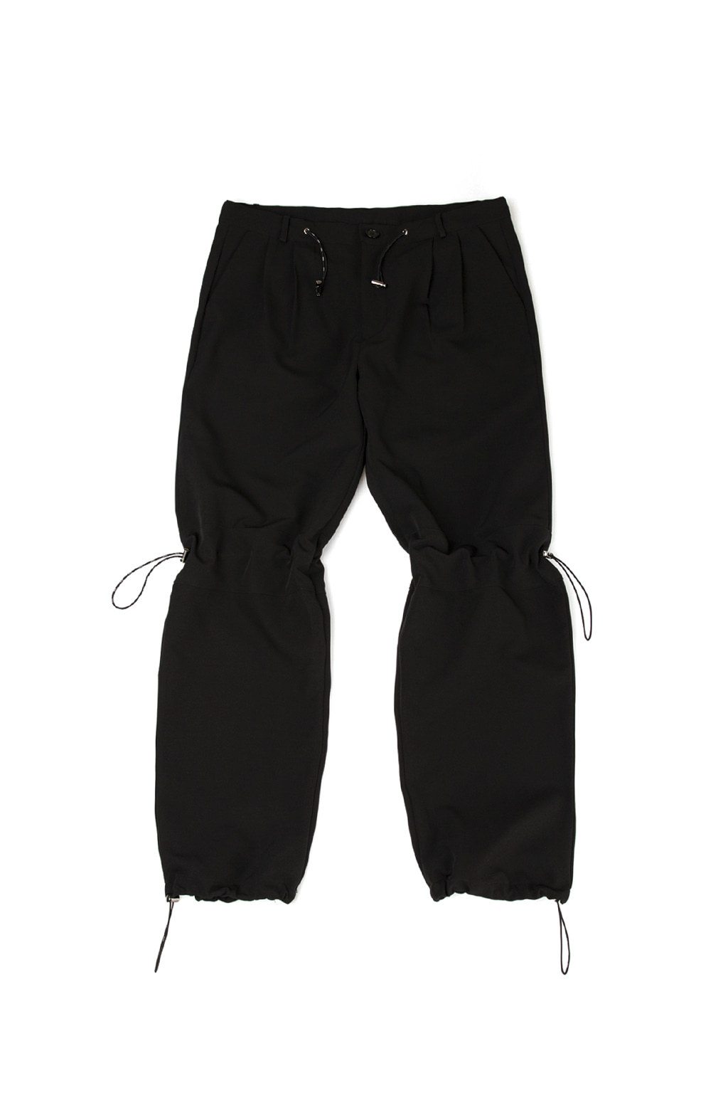 black logo string trousers