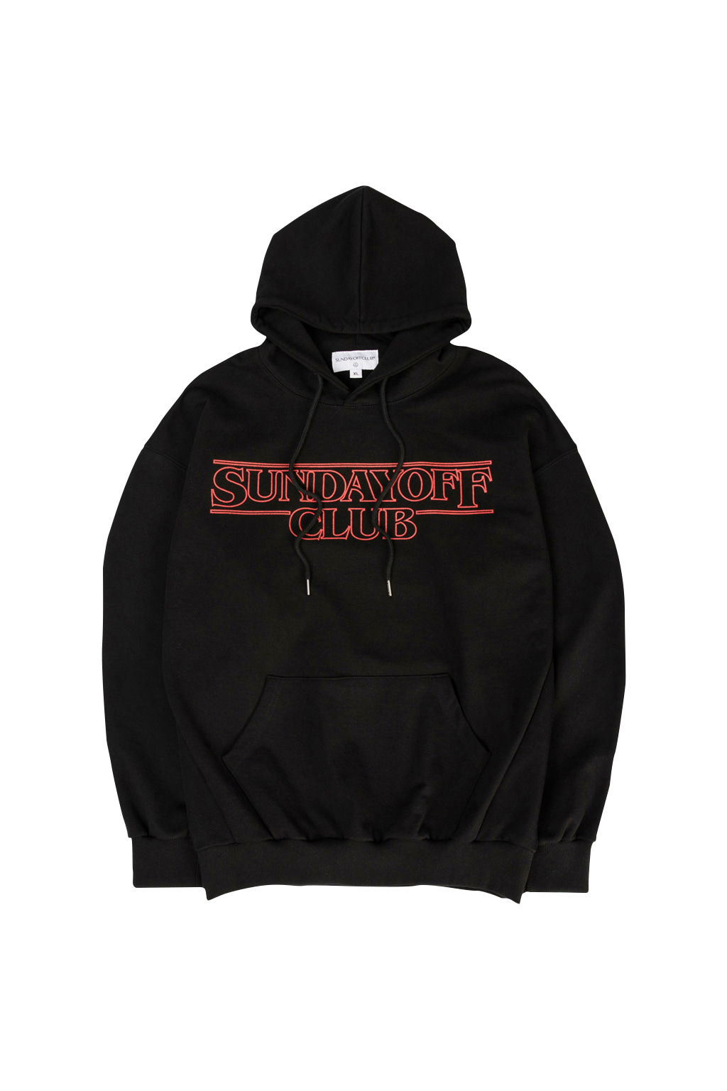 stranger things hoodie - black
