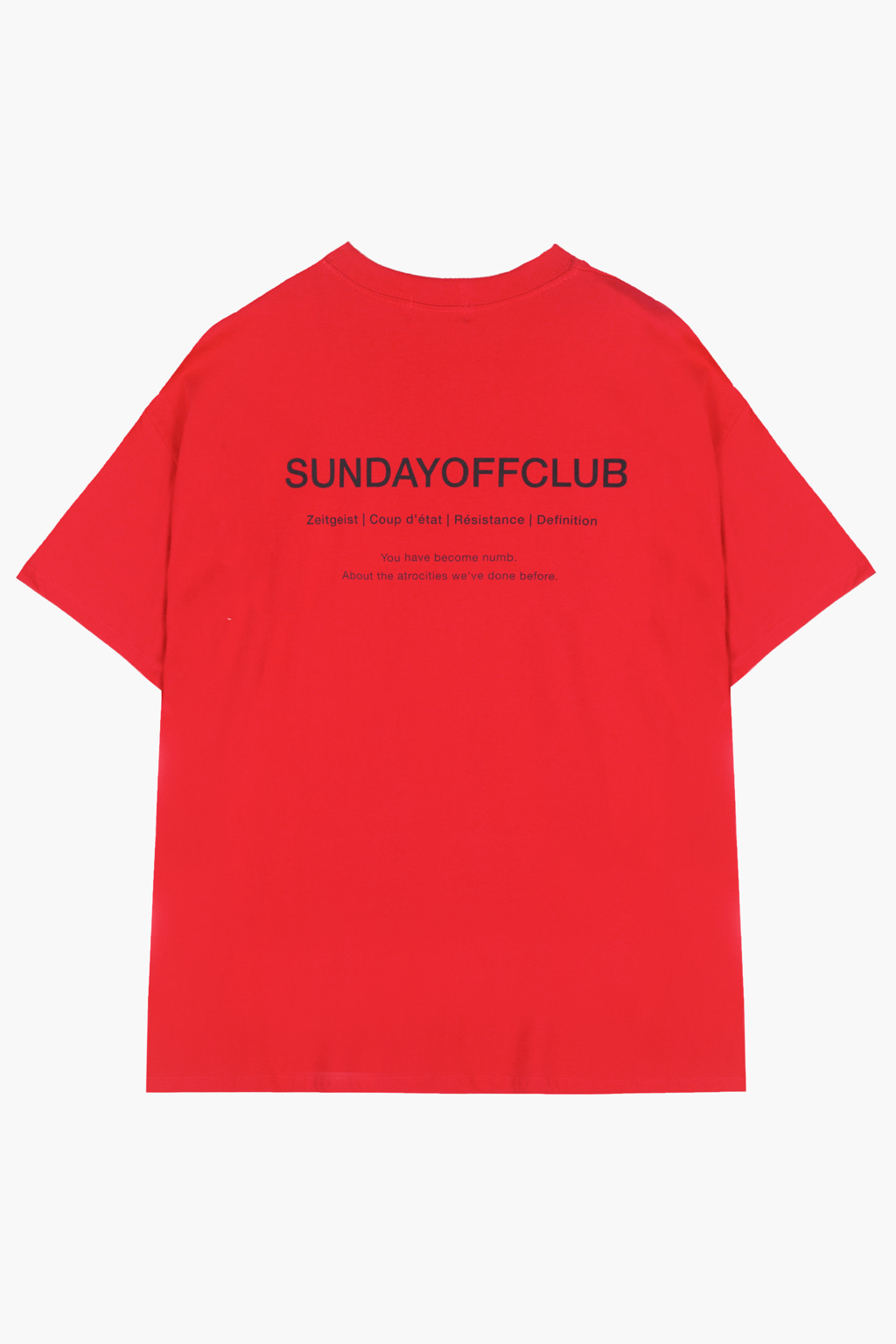 OG Logo & Slogan T-shirt - red