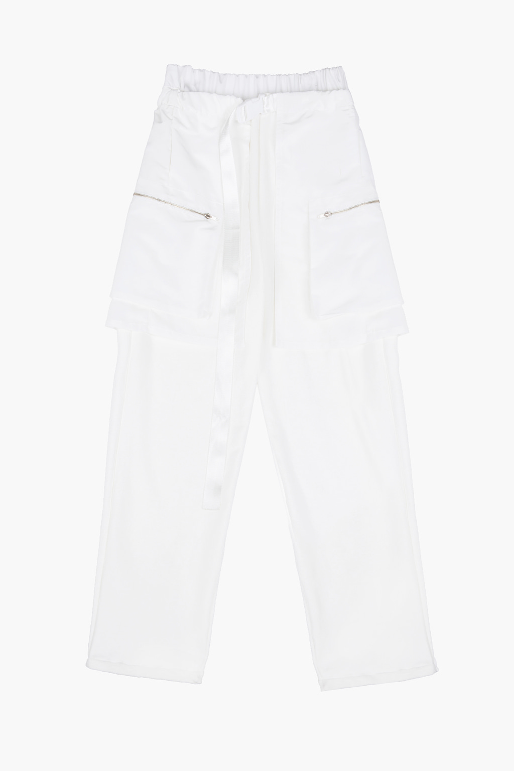 Layered Utility Cargo Skirt  Lounge Pants - white