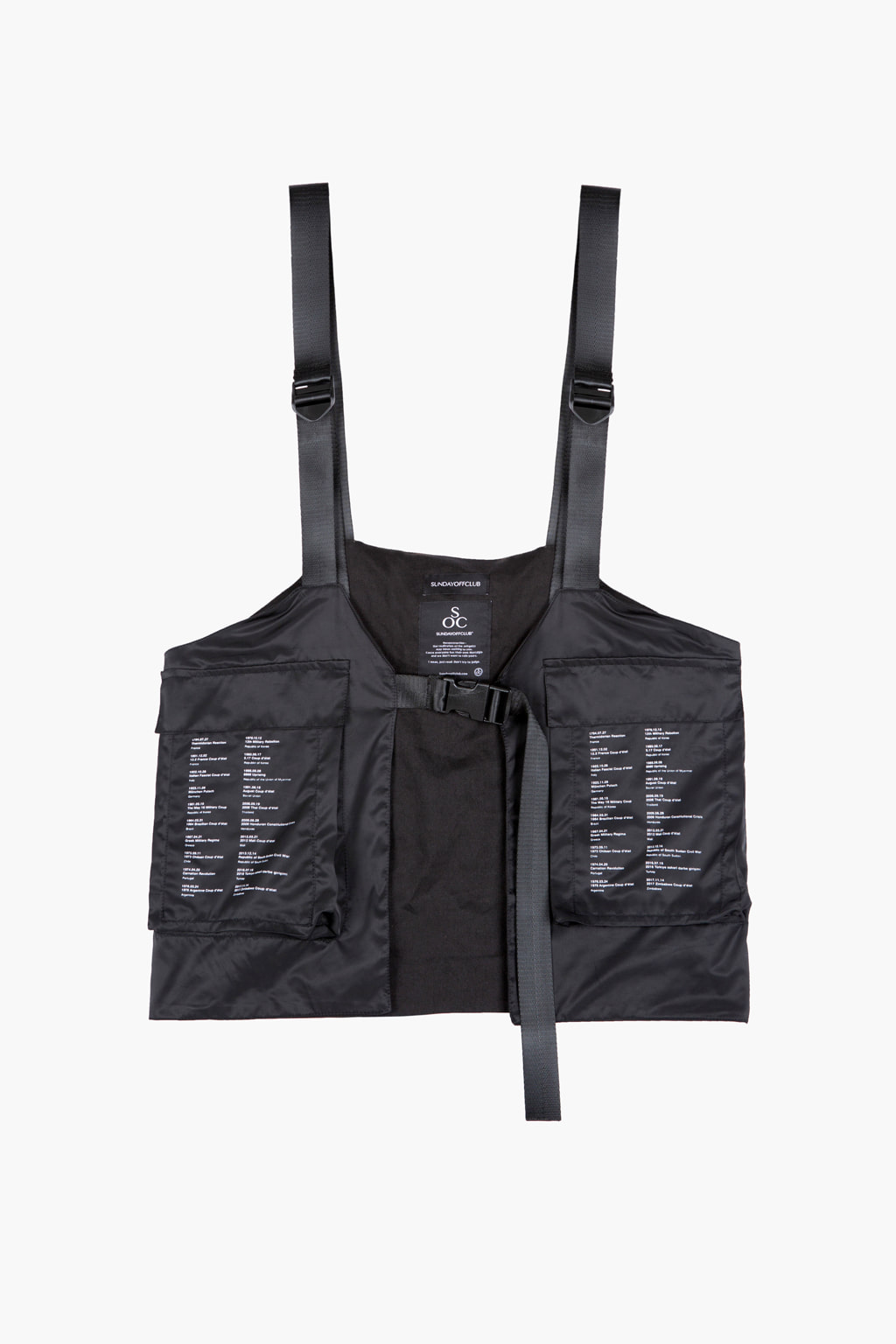 Patch Detail Bag Waterproof Vest - black