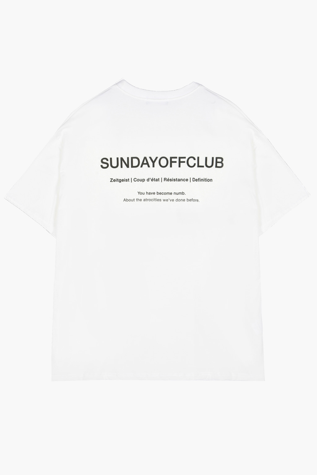 OG Logo & Slogan T-shirt - white