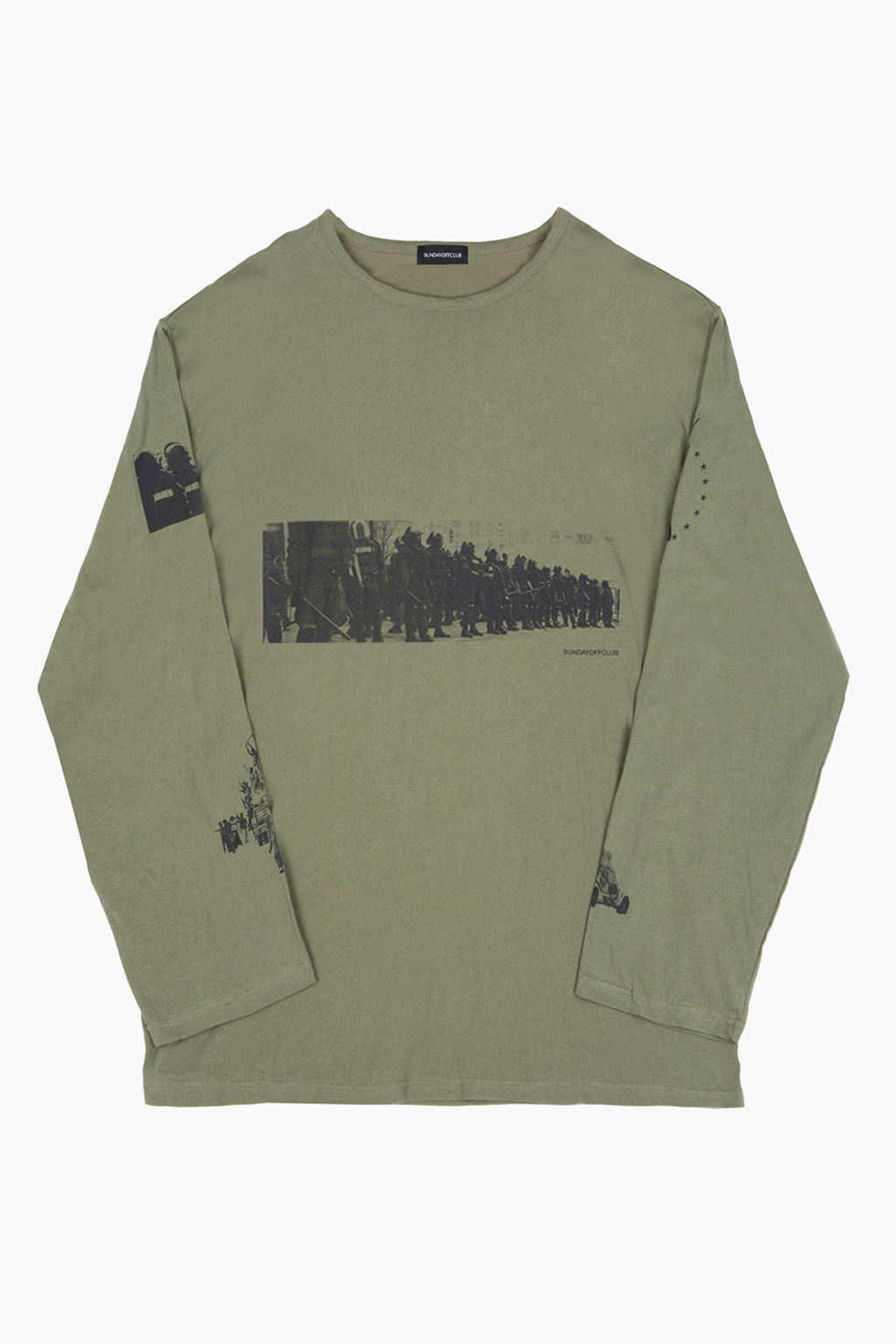 Riot Long Sleeve T-shirt - khaki