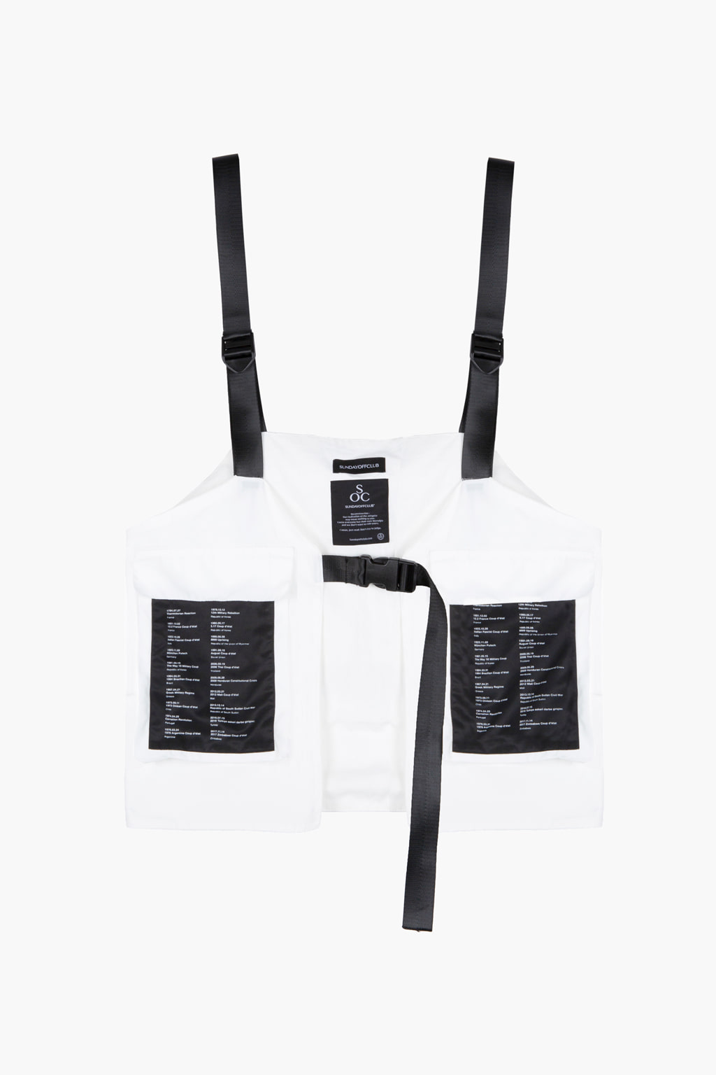 Patch Detail Bag Waterproof Vest - white