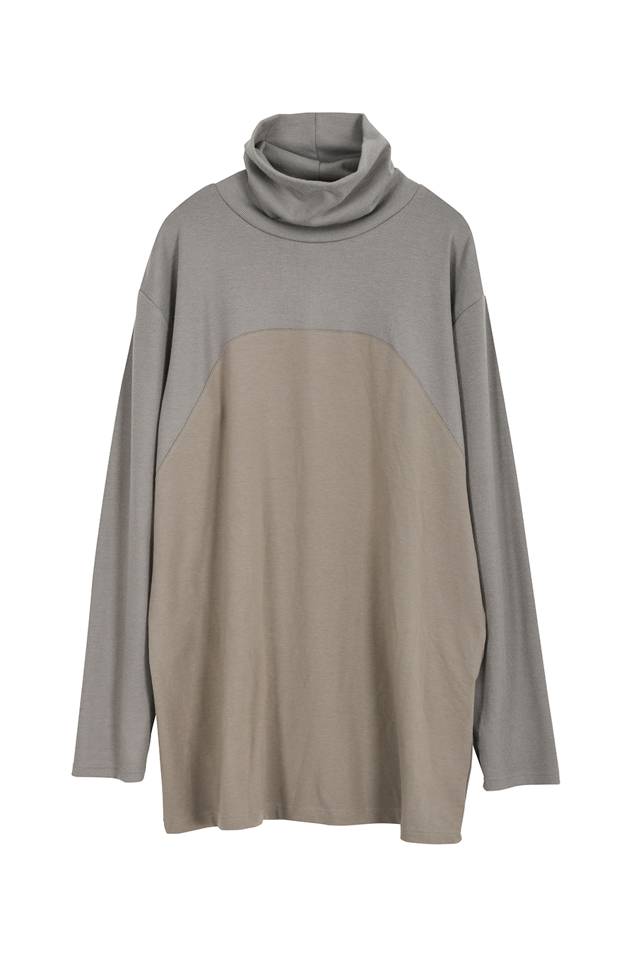 """The Pilgrim"" Double Fabrics Turtleneck - Gray"