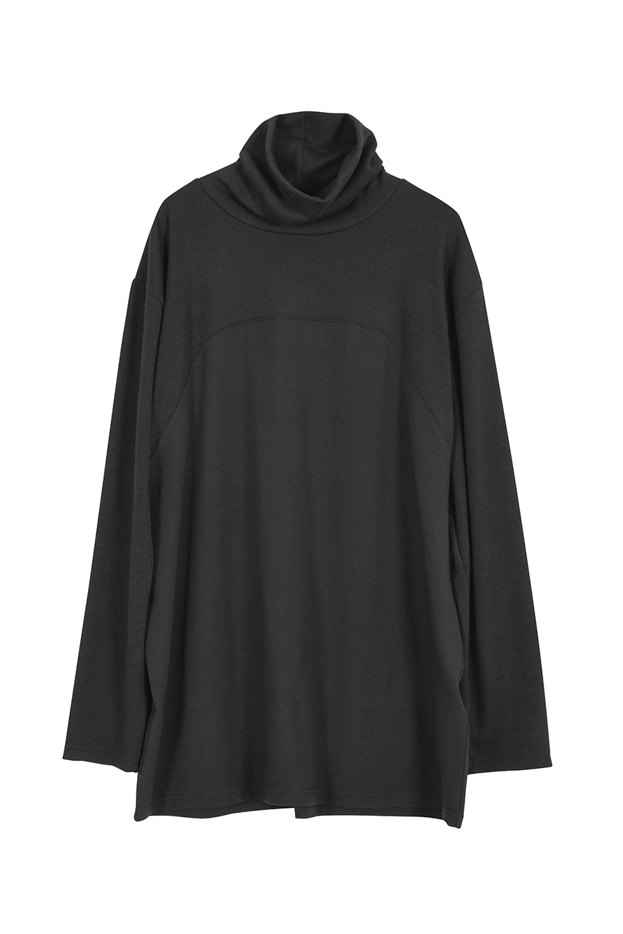 """The Pilgrim"" Double Fabrics Turtleneck - Black"