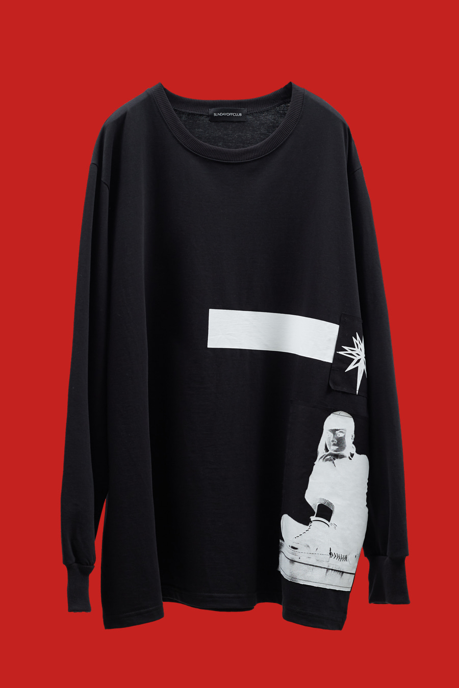 Season Patch Details Line Artwork LST-shirt - Black