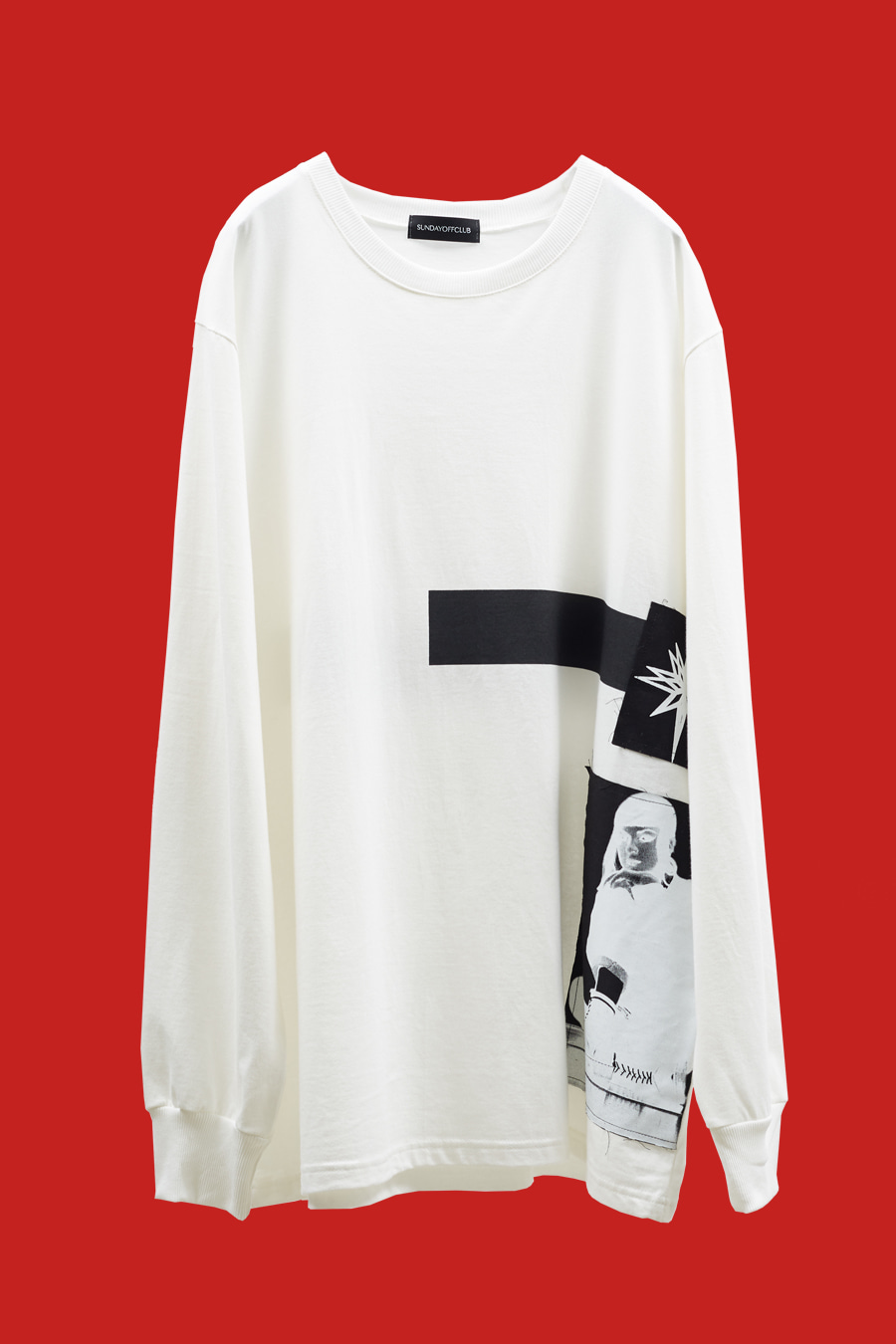 Season Patch Details Line Artwork LST-shirt - White