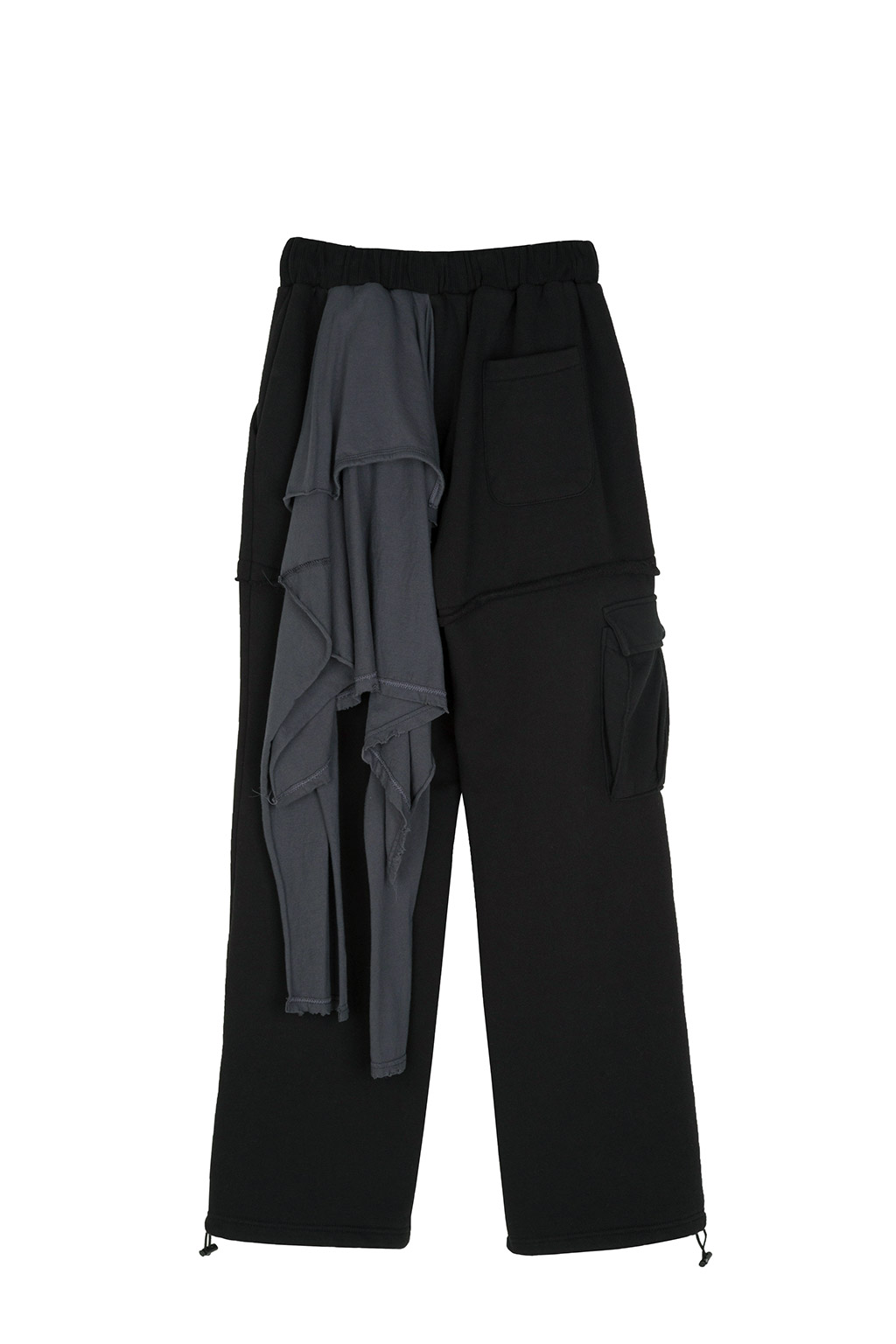 shirts docking sweatpants - black