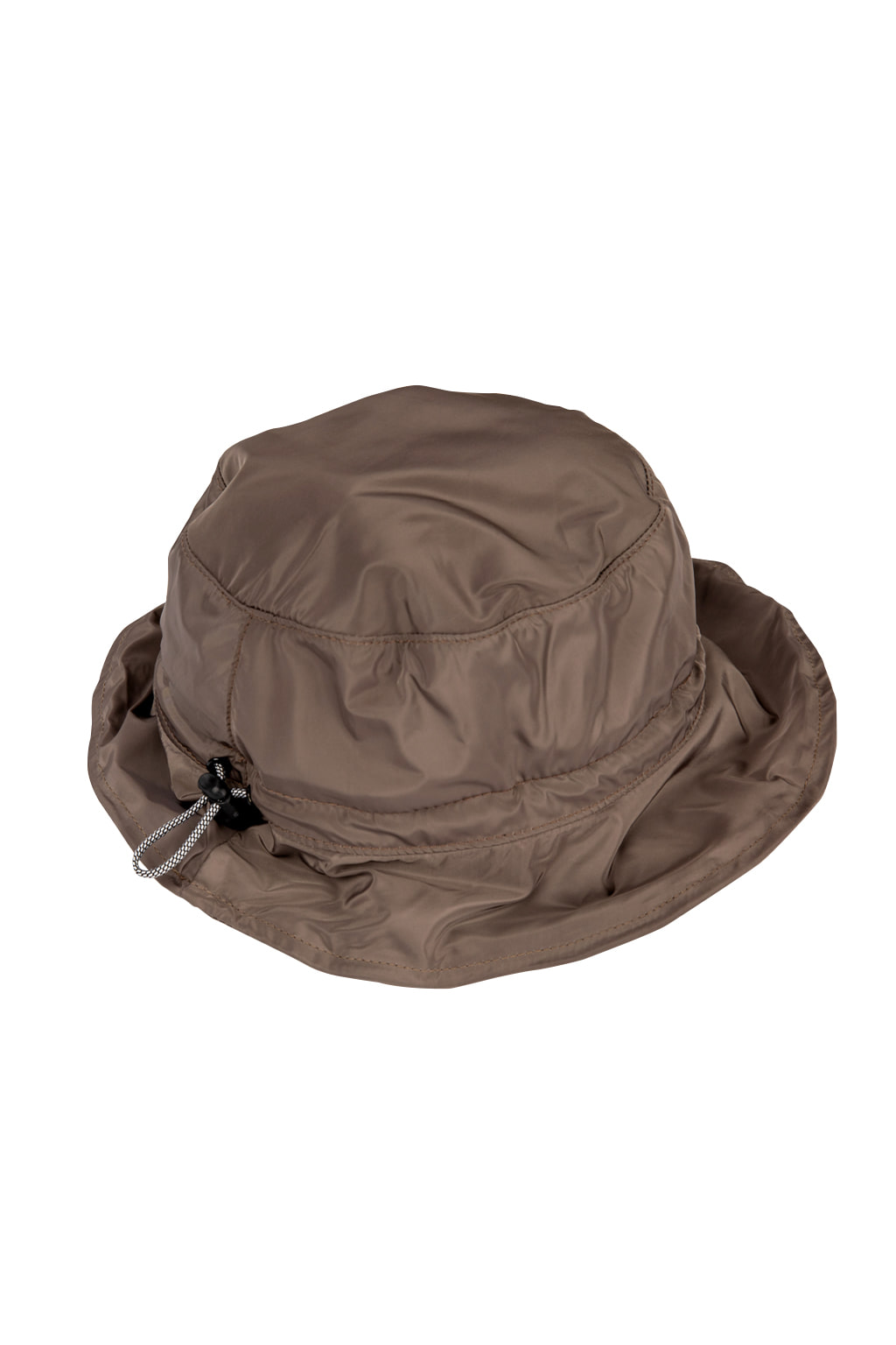 wave string bucket hat - khaki