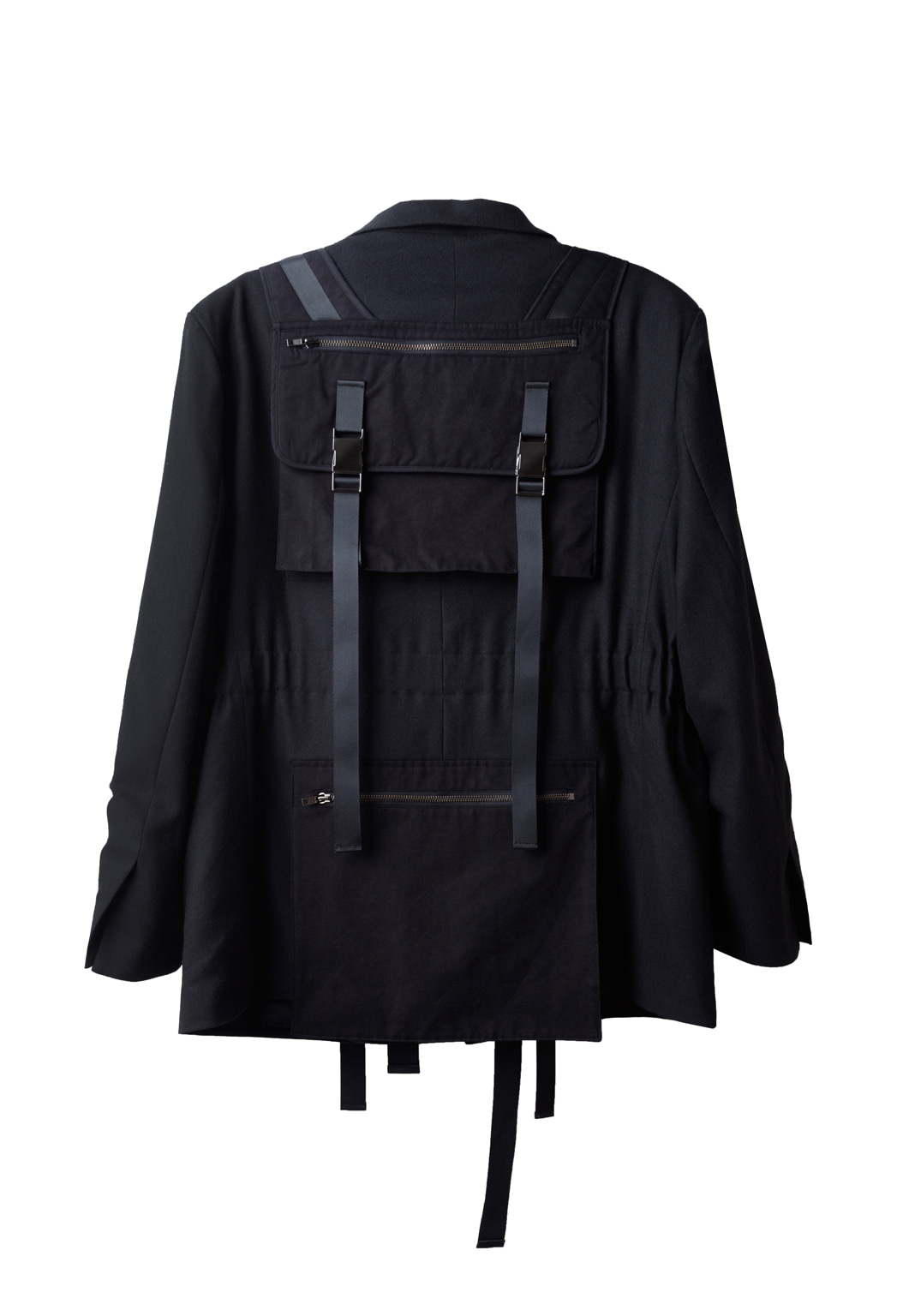 utility backpack belt blazer - black