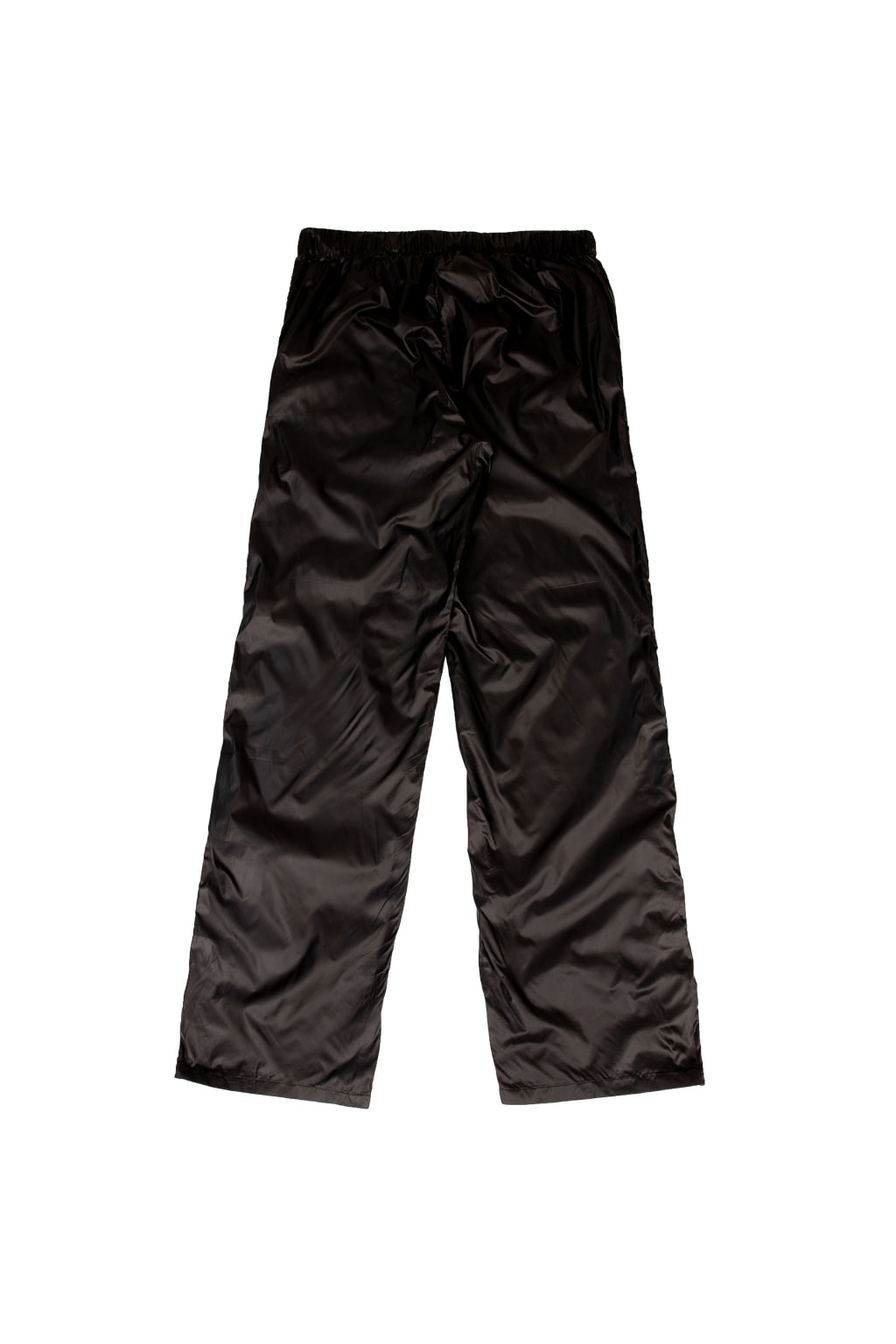 high gloss nylon track pants - black