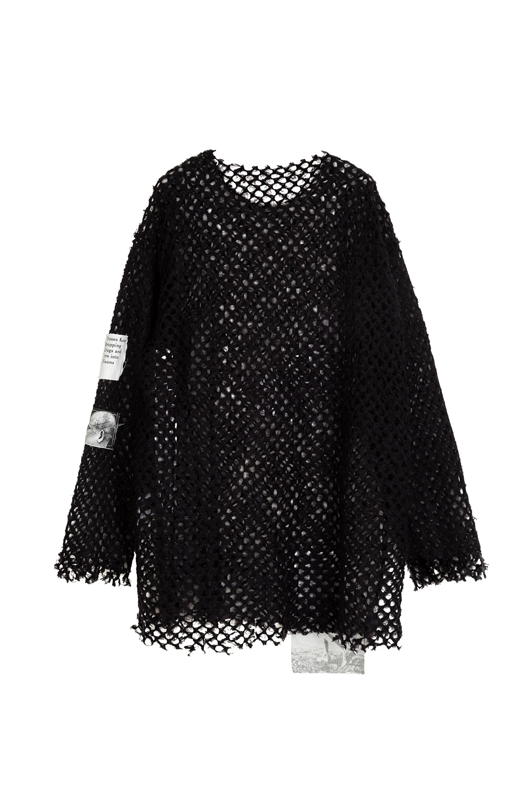 patch net knit - black