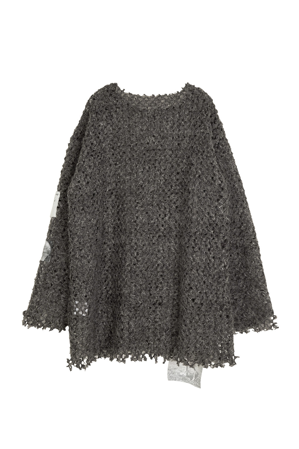 patch net knit - charcoal