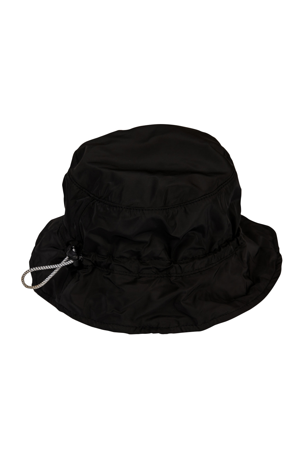 wave string bucket hat - black