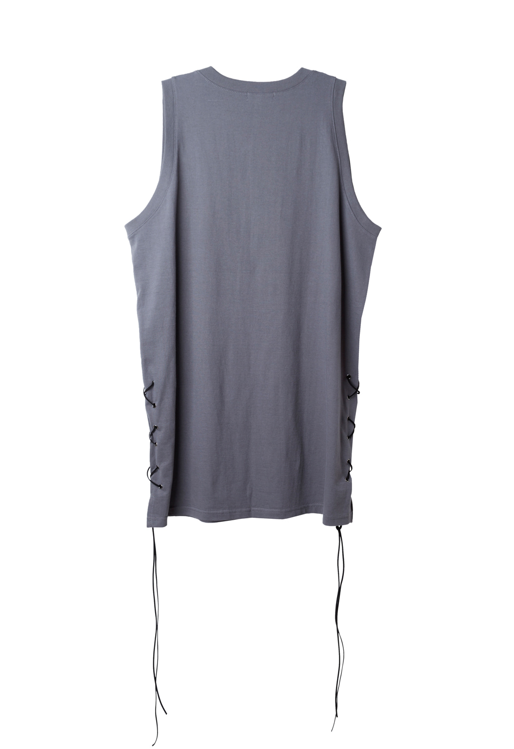 strap sleeveless shirts - gray