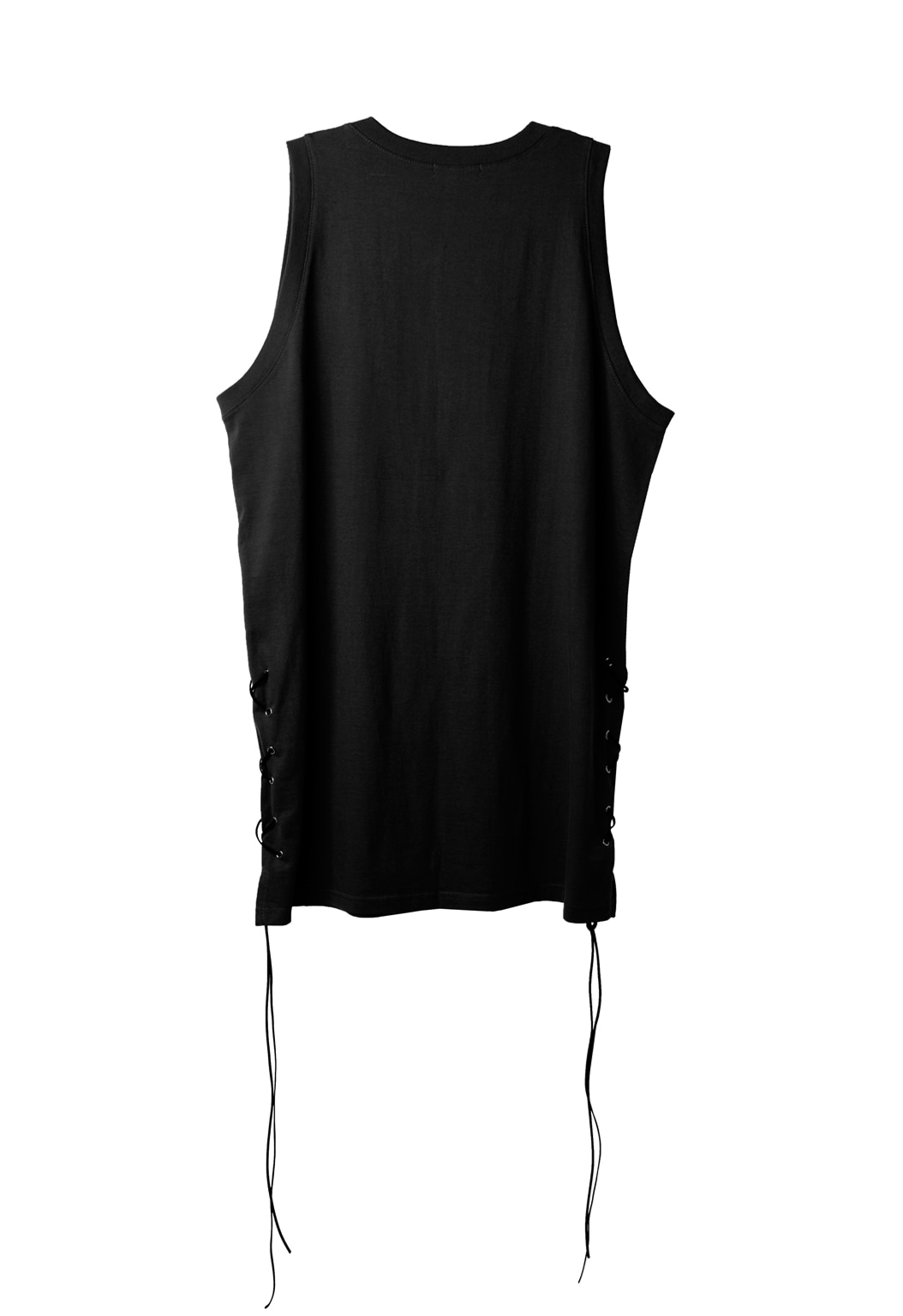 strap sleeveless shirts - black