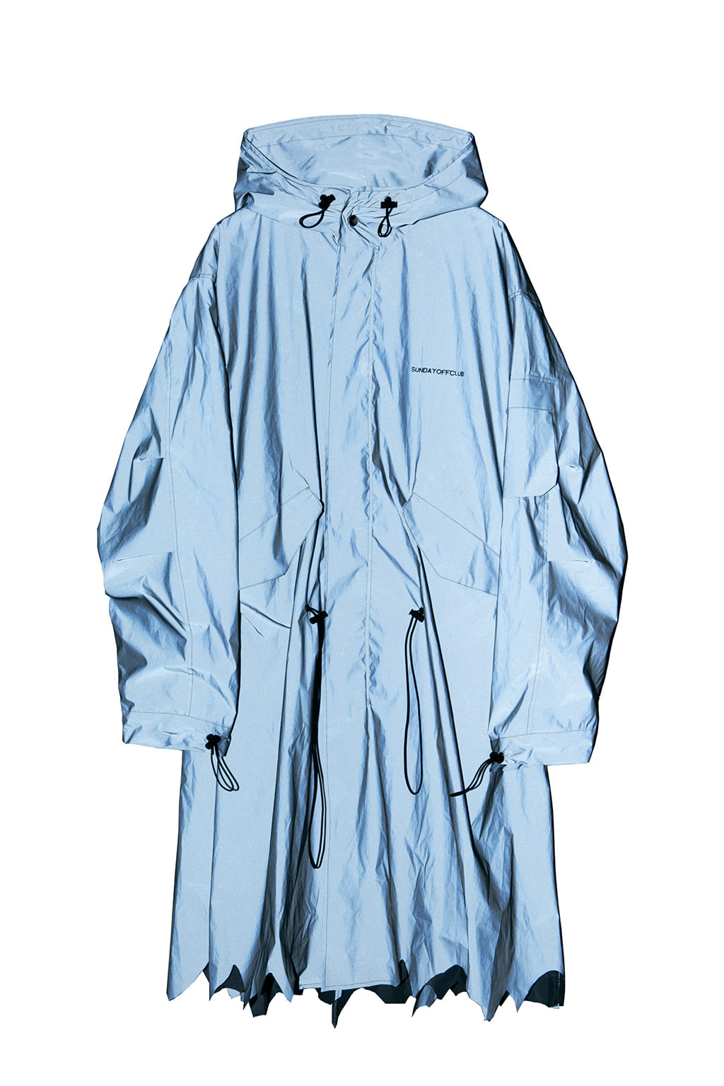 patch parka coat - reflective