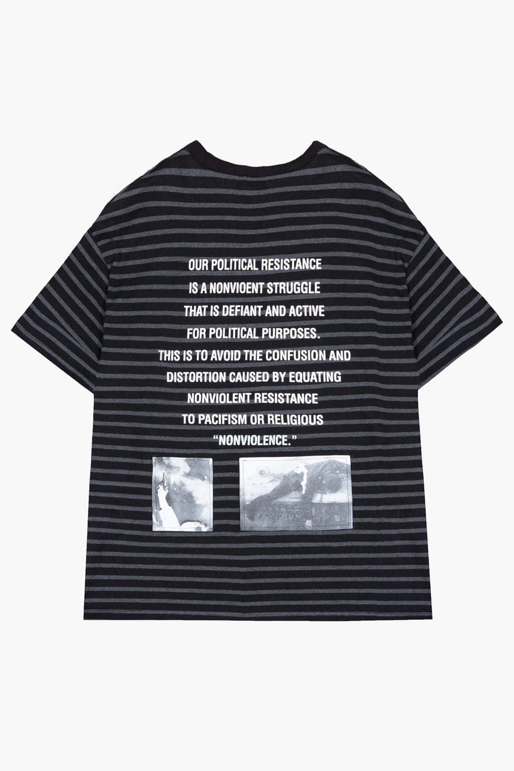 Nonviolent Resistance Striped T-shirt