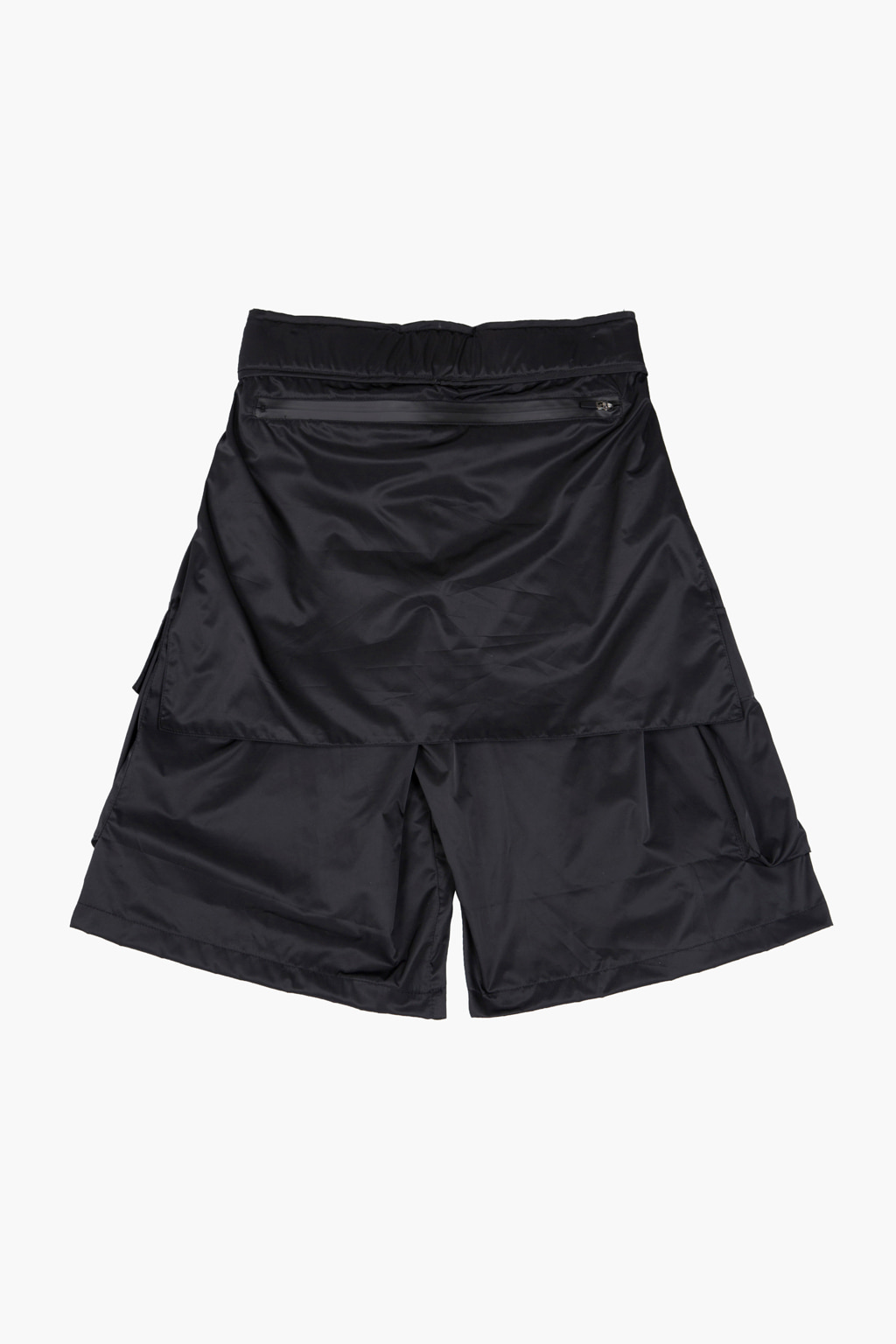 Obi Belt Detail Cargo Pocket Shorts - black