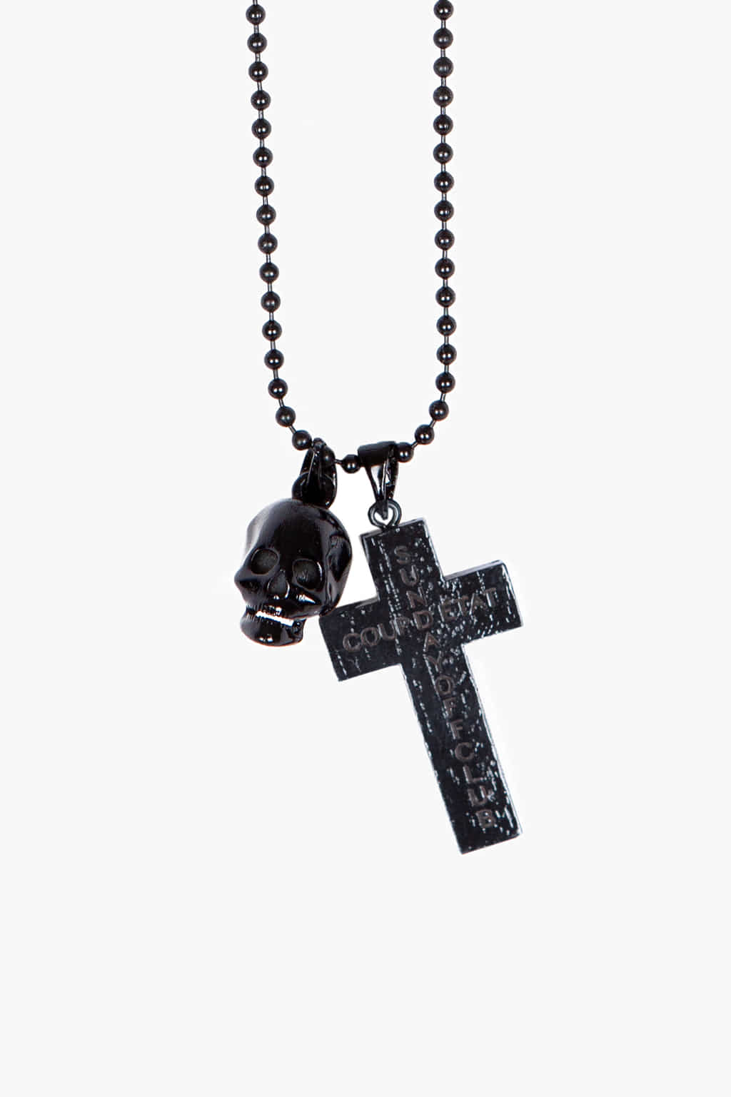 Skull & Cross Pendants Chain Ball necklace