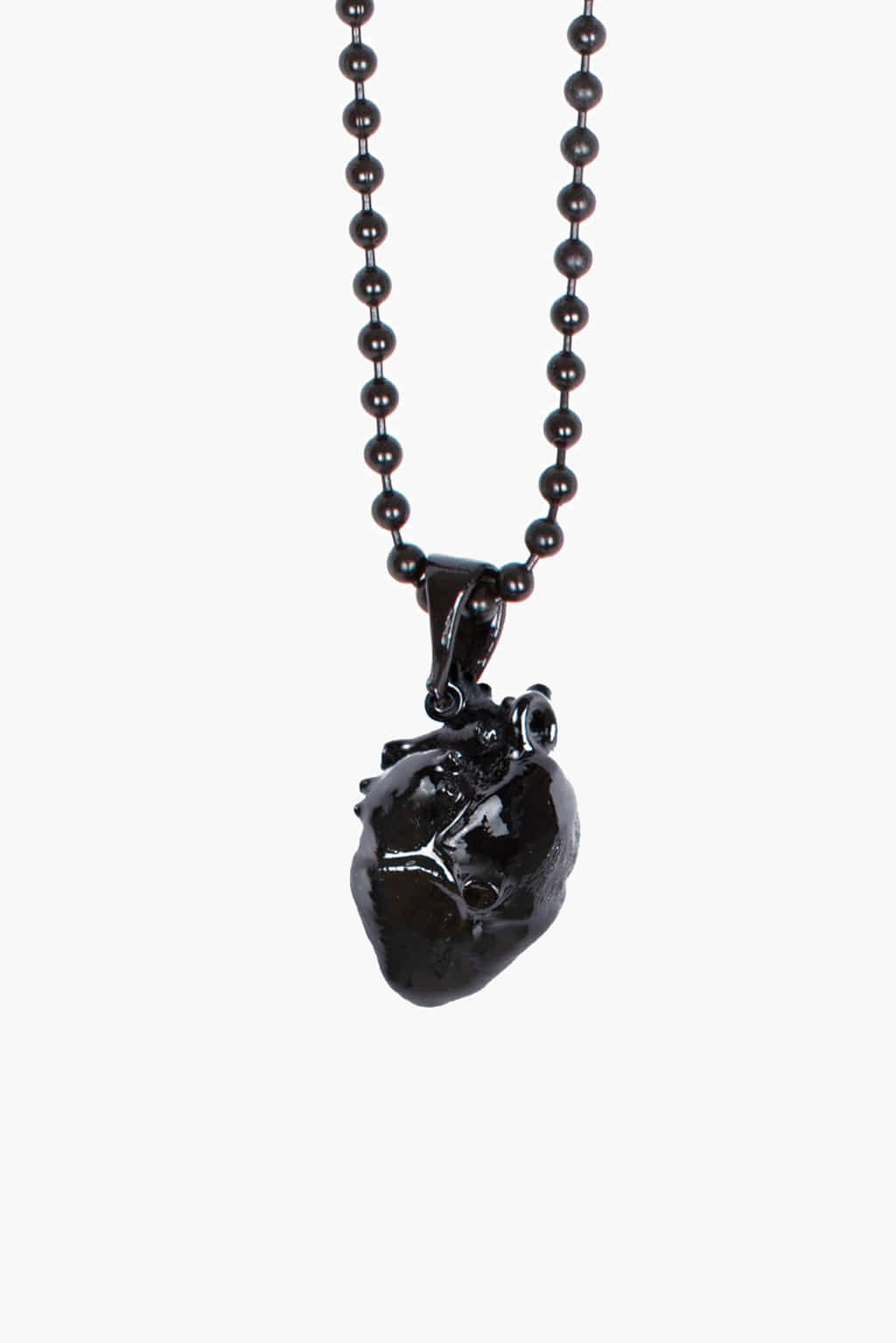Heart Pendant Chain Ball necklace