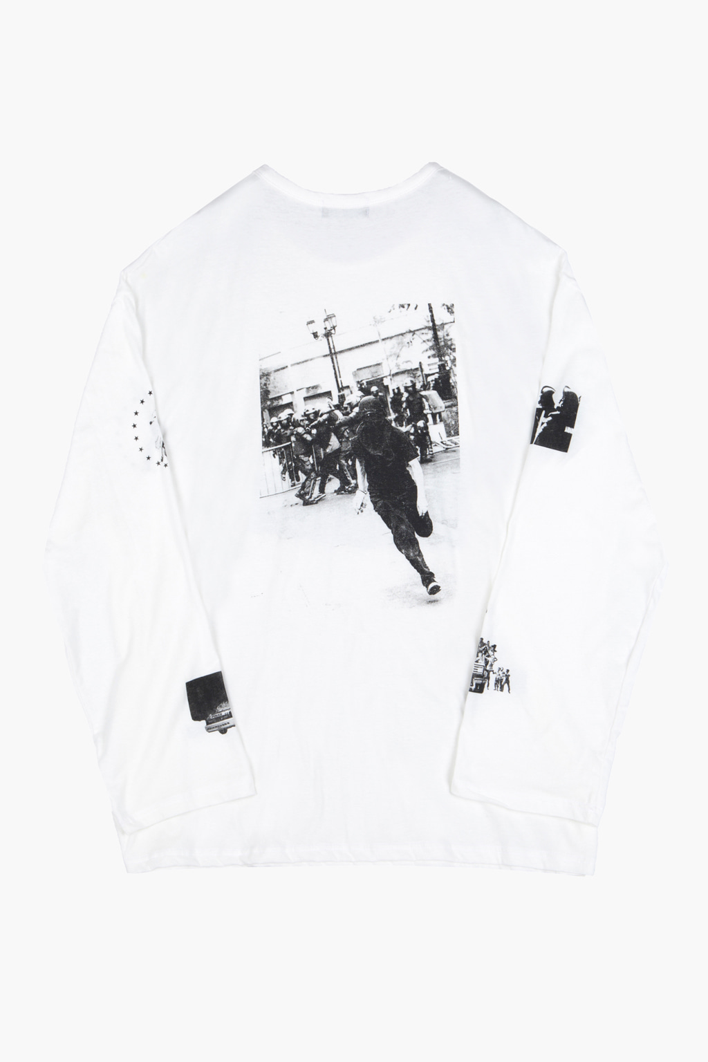 Riot Long Sleeve T-shirt - white