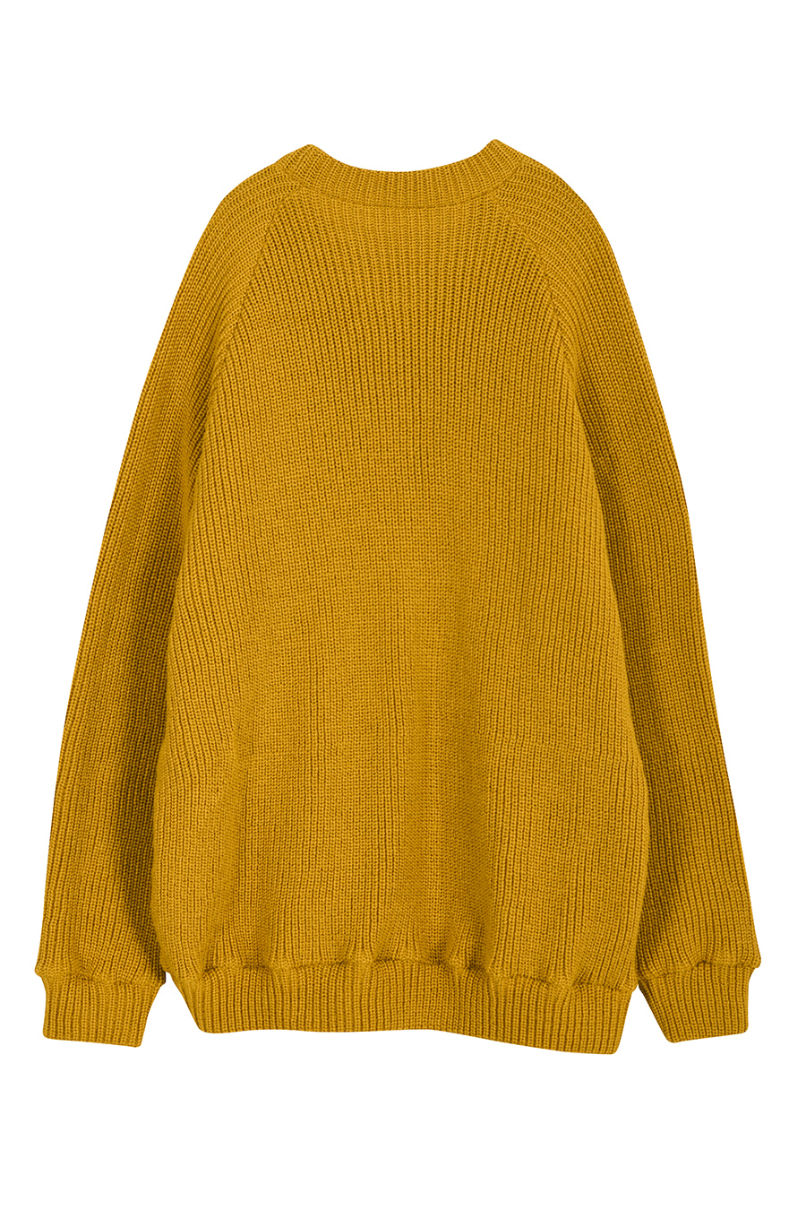 """The Nomad"" Artwork Fabric Detail Sweater - Mustard"