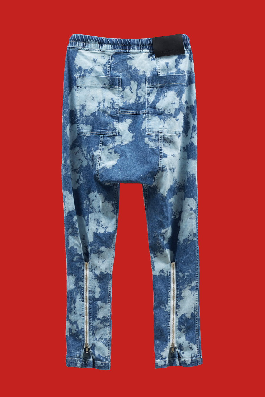 Bleached Washed Denim Pants