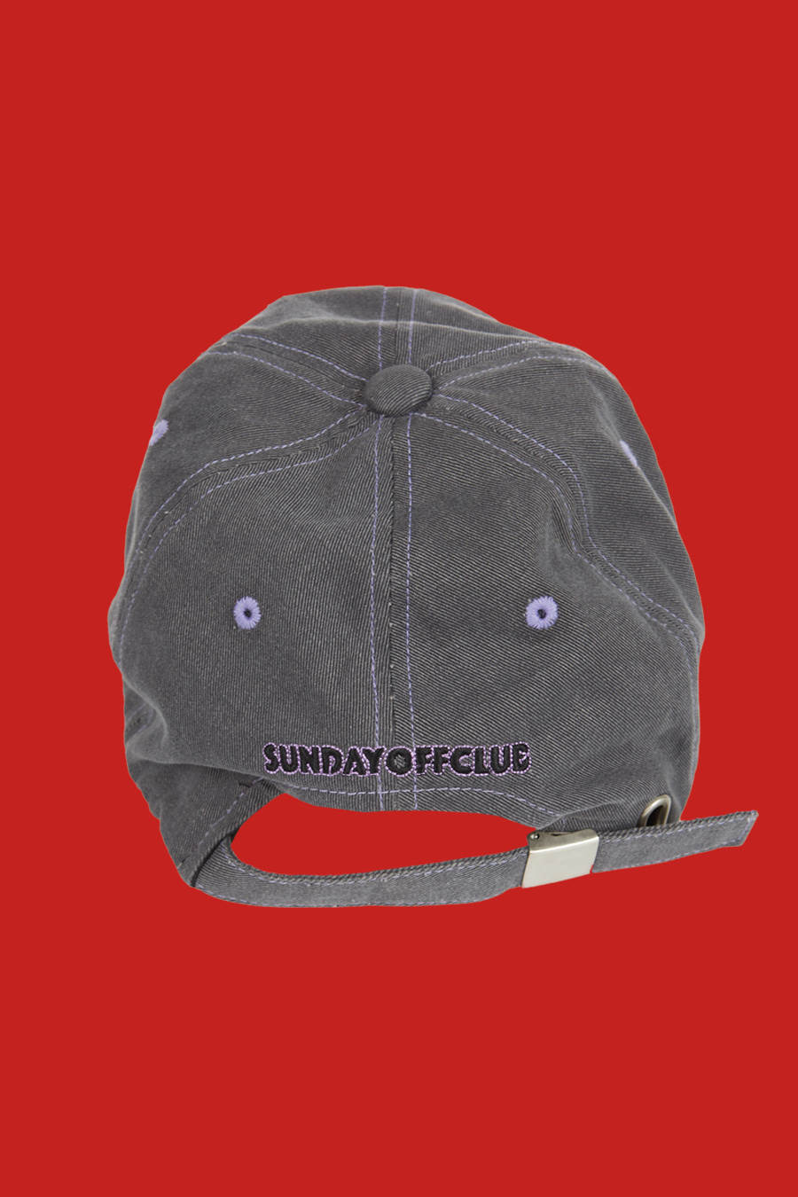 Guns On Me Ball Cap - Grey Violet