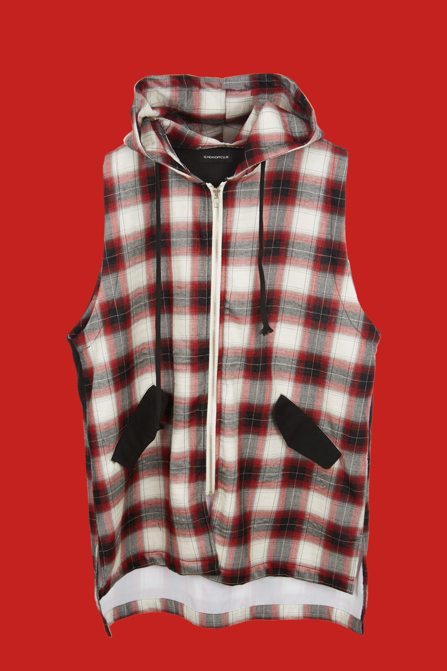 Bloodthirster Plaid Check hooded Shirt - Red