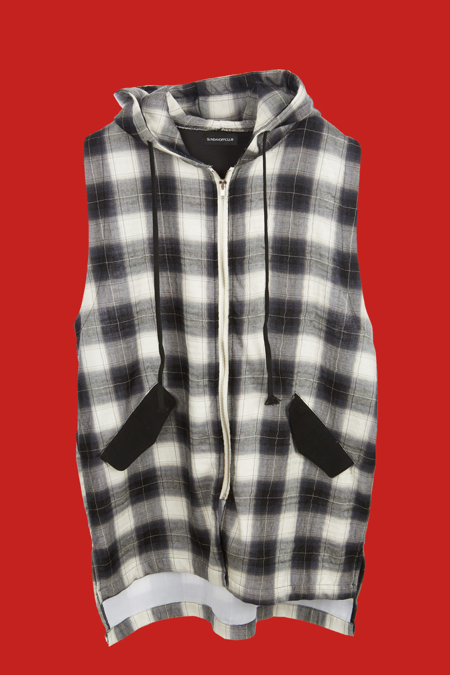Bloodthirster Plaid Check hooded Shirt - Black